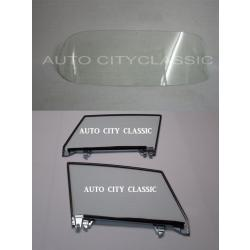 1956-1962 Chevrolet Corvette Coupe Windshield and Assembled Door Glass Set 5662VETWDA
