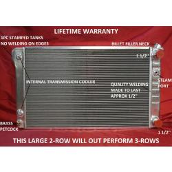 1968-1972 GM A-Body Aluminum Radiator with LS Motor Swap